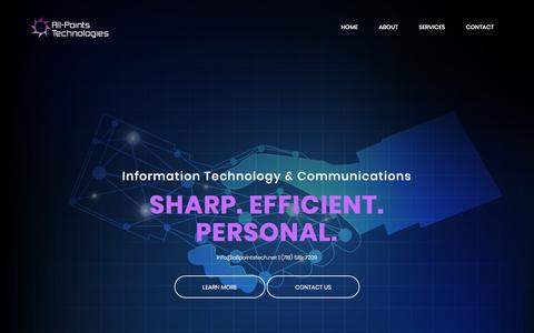 Screenshot of Home Page allpointstech.net - All-Points Technologies - captured Oct. 8, 2017
