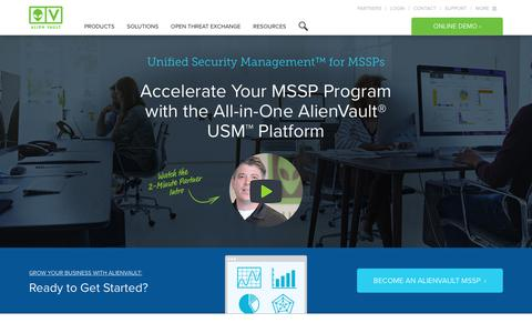 AlienVault Unified Security Management (USM) for MSSPs