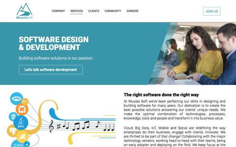 Screenshot of Services Page musala.com - Software Design & Development   Musala Soft - captured Oct. 21, 2017