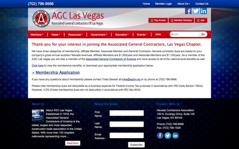 Screenshot of Signup Page agclv.org - Join AGC Las Vegas - Associated General Contractors of Las Vegas - captured Feb. 6, 2016