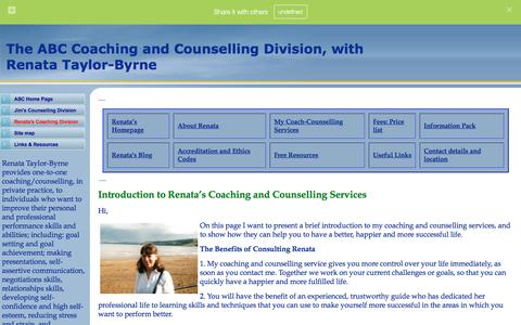 Screenshot of Services Page abc-counselling.com - Coaching and Counselling Division, Hebden Bridge HX7 - captured Feb. 4, 2016
