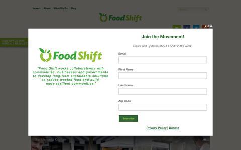Screenshot of Support Page foodshift.net - The Alameda Kitchen - Food Shift - captured Aug. 4, 2016
