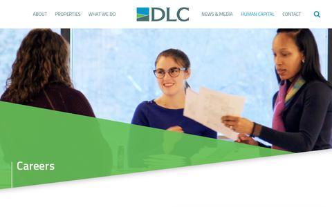 Screenshot of Jobs Page dlcmgmt.com - Careers and Job Openings | DLC Management - captured Oct. 7, 2018