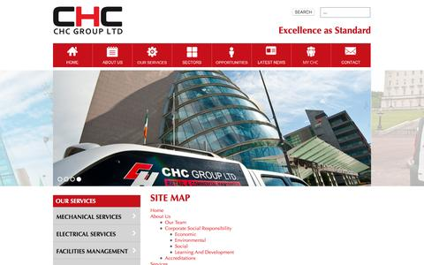 Screenshot of Site Map Page chcltd.com - Site Map   Building Services    UK   CHC Group Ltd - captured Oct. 7, 2016