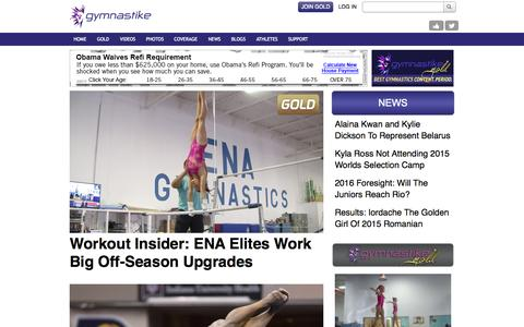 Screenshot of gymnastike.org - Watch Gymnastics videos, events, workouts, techniques and routines - Gymnastike - captured Oct. 2, 2015