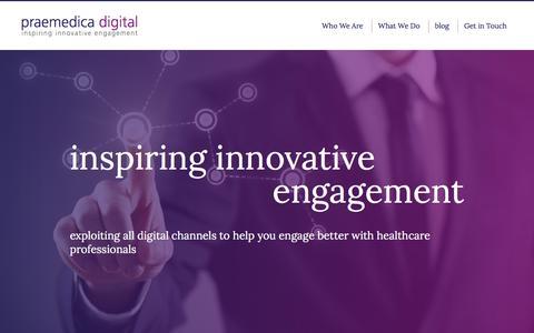 Screenshot of Home Page praemedica.com - Praemedica Digital - captured Dec. 10, 2015