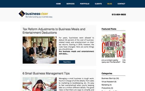 Screenshot of Blog businessviser.com - Small Business Blog   Businessviser - captured Sept. 20, 2018