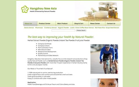Screenshot of Home Page herbalsextract.com - Stevia extract|Rhamnose|Lutein|Cranberry extract|Grape Seed Extract - captured Oct. 1, 2014