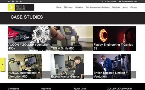 Screenshot of Case Studies Page zoller-uk.com - Case Studies - Zoller UK - captured June 18, 2017