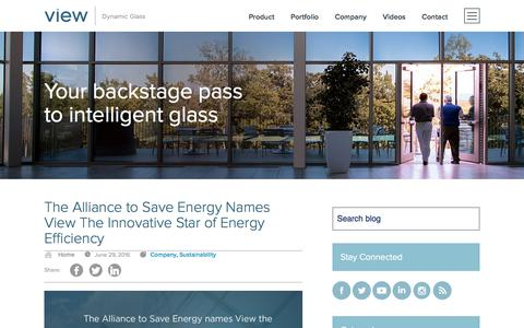 Screenshot of Blog viewglass.com - View Dynamic Glass | Your backstage pass to intelligent glass - captured Aug. 29, 2016