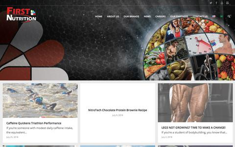 Screenshot of Press Page firstnutrition.com - NEWS - First Nutrition - captured Aug. 13, 2018