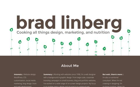 Screenshot of Home Page linbergcreative.com - Linberg Creative | Cooking All Things Design, Marketing, and Nutrition - captured Jan. 7, 2017