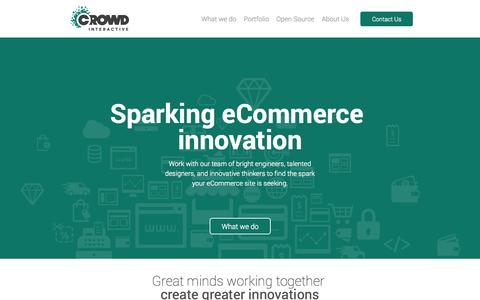 Screenshot of Home Page crowdint.com - Crowd Interactive | Leading eCommerce consultancy firm - captured Sept. 23, 2014