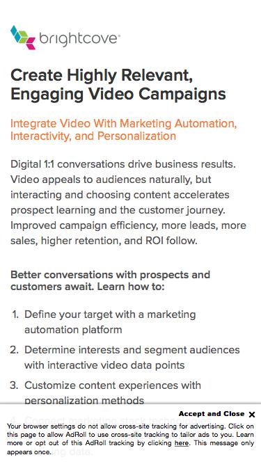Brightcove | Create Highly Relevant, Engaging Video Campaigns