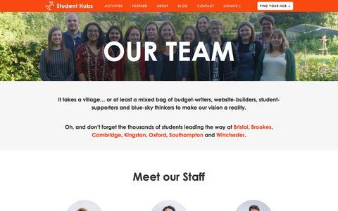 Screenshot of Team Page studenthubs.org - Team |  Student Hubs - captured Nov. 10, 2017
