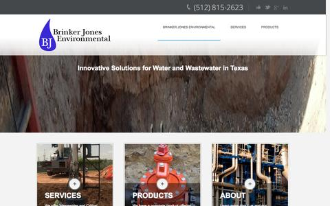 Screenshot of Home Page brinkerjonesenvironmental.com - Critical Water and Wastewater Solutions | Brinker Jones Environmental - captured Oct. 5, 2014