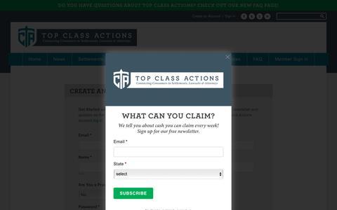 Screenshot of Signup Page topclassactions.com - Sign Up - Top Class Actions - captured Dec. 3, 2016