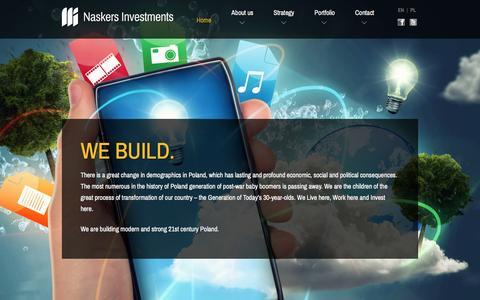 Screenshot of Home Page naskers.com - Naskers Investments EN - captured Feb. 22, 2016