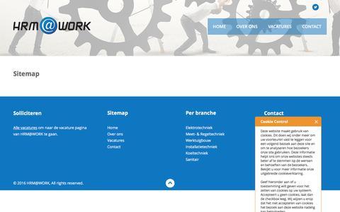 Screenshot of Site Map Page hrmatwork.nl - HRM@WORK - captured Jan. 23, 2016
