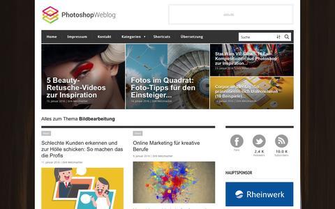 Screenshot of Home Page photoshop-weblog.de - Photoshop-Weblog – Alles zum Thema Bildbearbeitung - captured Jan. 15, 2016