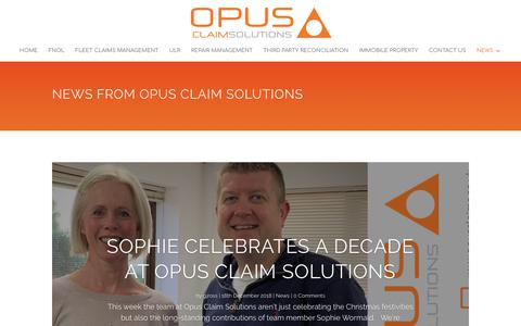 Screenshot of Press Page opusclaims.co.uk - News • Opus Claim Solutions Ltd - captured Dec. 21, 2018