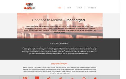 Screenshot of Home Page launchlabcapital.com - Launch Lab Capital | Dream It. Build It. Sell It. - captured Sept. 29, 2014