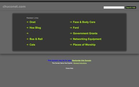 Screenshot of Signup Page chuconet.com - Chuconet.com - captured Oct. 2, 2014