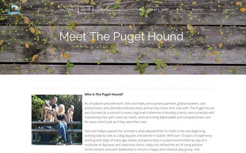 Screenshot of About Page gopugethound.com - About - The Puget Hound - captured Oct. 23, 2017