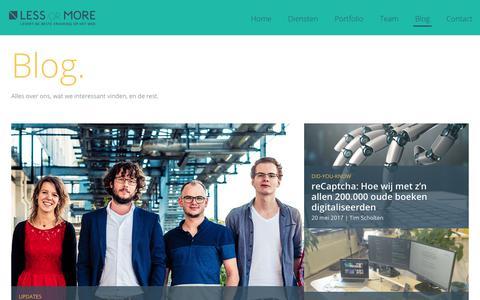 Screenshot of Blog lessormore.nl - Wij delen graag onze kennis | Less or More - captured July 31, 2017