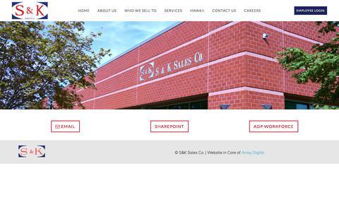 Screenshot of Login Page sksales.com - Employee Login | S&K Sales Co. - captured Sept. 26, 2017