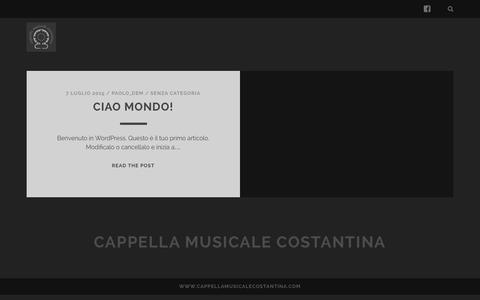 Screenshot of Home Page cappellamusicalecostantina.com - Cappella Musicale Costantina - captured July 18, 2015