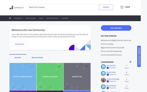 BigCommerce Support Community
