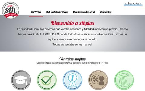 Screenshot of Home Page sthplus.com - STHPlus | El club del instalador - captured Jan. 23, 2017