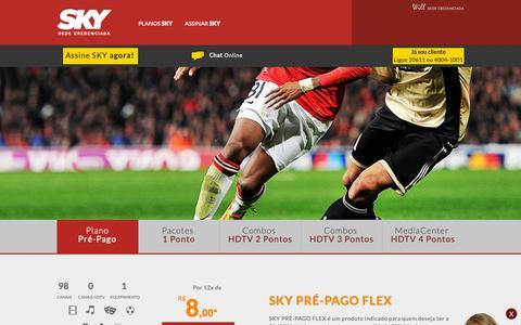 Screenshot of Home Page assineasky.com.br - Assine SKY HDTV | A melhor TV por assinatura do Brasil - captured Oct. 19, 2018