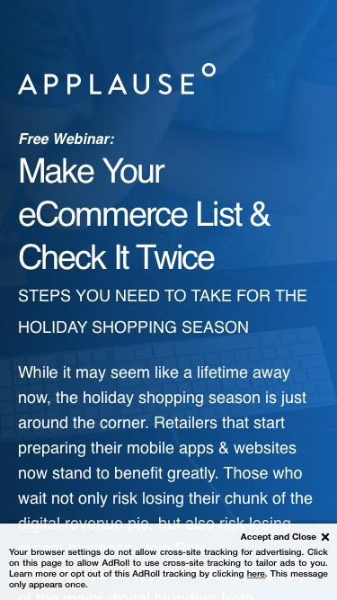 Webinar: Make Your eCommerce List & Check It Twice