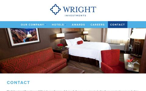 Screenshot of Contact Page wrightinvestments.com - Contact | Wright Investment Properties - captured Oct. 26, 2014
