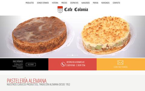 Screenshot of Home Page cafecolonia.cl - Pasteleria Alemana Salon Te Colonia Almuerzos Ejecutivos - captured April 18, 2018