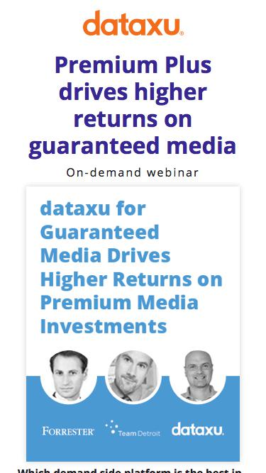 Webinar: Drive Returns on Premium Media Investments