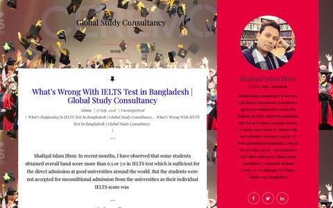 Screenshot of Blog gscl.com.bd captured Sept. 28, 2018