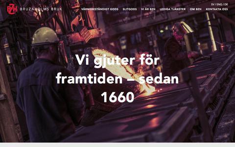 Screenshot of Home Page bruzabruk.se - Bruzaholms - captured Sept. 25, 2018
