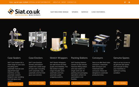 Screenshot of Home Page siat.co.uk - Siat Packaging Machines / Machinery - Official Siat UK Partner - captured Oct. 24, 2018