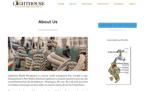Screenshot of About Page lighthousewlth.com - About Us - captured Jan. 19, 2016