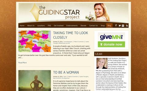 Screenshot of Blog theguidingstarproject.com - Blog   theguidingstarproject.com - captured Oct. 29, 2014