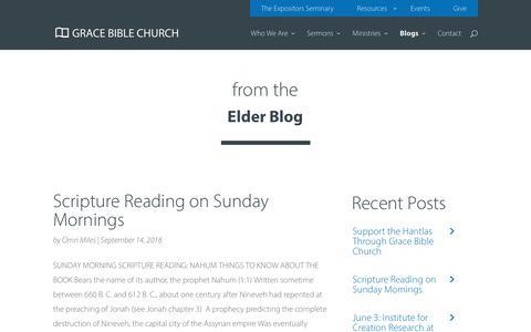 Screenshot of Blog gbcaz.org - Blog - Grace Bible Church - captured Sept. 30, 2018
