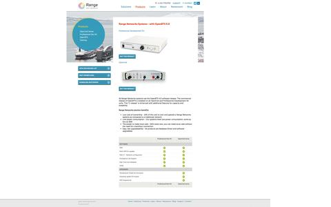 Screenshot of Products Page rangenetworks.com - Range Networks Products - captured Sept. 30, 2014