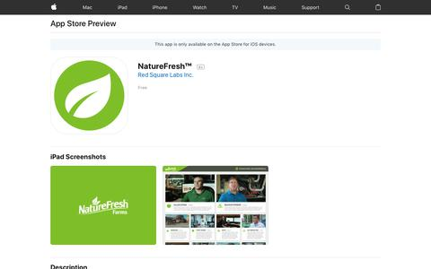 NatureFresh™ on the App Store