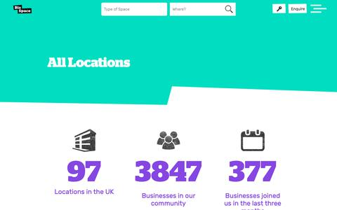 Screenshot of Locations Page bizspace.co.uk - Workspace To Rent in the UK | Our Locations | BizSpace - captured Dec. 12, 2018