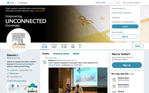 Elsevier (@ElsevierConnect) | Twitter