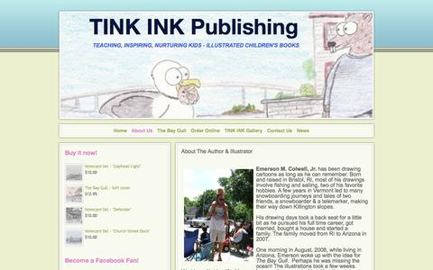 Screenshot of About Page webs.com - TINK INK Publishing - About Us - captured June 19, 2017