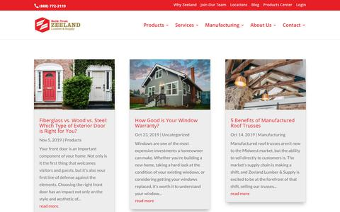 Screenshot of Blog zeelandlumber.com - Home Improvement Blog - Zeeland Lumber and Supply - captured Nov. 12, 2019